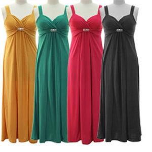 Buckle front Maxi dress - Golden